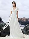 Lanting Bride® Corte en A Vestido de Boda Corte Cuello en V Georgette con