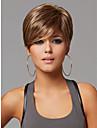 Nytt ljus brunmelerad korta raka kvinnors syntetiskt hår peruk