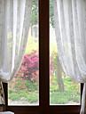 Två paneler Fönster Behandling Rustik / Modern / Designer , Blommig/Botanisk Living Room Poly/Bomull blend Material Sheer gardiner Shades