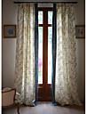 Två paneler Fönster Behandling Rustik / Nyklassisistisk / Medelhavet / Designer , Blommig/Botanisk Bedroom Linne/Bomull blend Material
