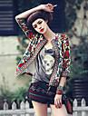 Women\'s Vintage Print ¾ Sleeve Jacket