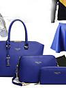 Femme Polyurethane Formel / Decontracte / Bureau & Travail / Shopping Sac a Bandouliere / Cabas Rose / Bleu / Rouge / Noir