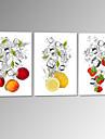 visuell star®fruit i vatten sträckta canvas utskrift citron jordgubb vägg bild redo att hänga