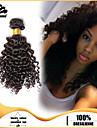 4st brasilianska kinky curl hårknippena väver naturligt svart 100% obearbetat brasiliansk weft