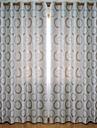 Två paneler Fönster Behandling Modern , Polka dots Living Room Polyester Material Blackout Gardiner draperier Hem-dekoration For Fönster