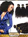 febay hår brasilianskt jungfru hår kinky lockigt 12 14 16 18 20 22 24 26 28 30 tum 1pcs / lot 100g / st