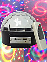 mp3 röst diamant kristallkula självgående röst mp3-spelare 3W * 6led lampa pärlor sex färger brett spännings