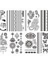 Brand New - Tatueringsklistermärken - Non Toxic/Mönster/Stam/Ländrygg/Waterproof - Smyckeserier/Blomserier - till
