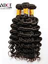 """4st mycket 12 """"-30"""" obearbetade råvaror mongolian djupa våg lockiga jungfru hårwefts naturliga svart remy människohår väva buntar"""