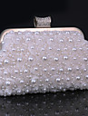 Women Elegant Noble Pearl Rhinestone  Evening Bag