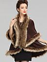 Wedding Faux Fur / Imitation Cashmere Capes Sleeveless Wedding  Wraps / Fur Coats / Hoods & Ponchos