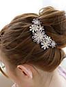 sydkorea hög kvalitet ornament i kammar hår spänne diamant pärla twist lila blomma