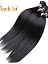indisk jungfru hår rakt 3 st / lot obearbetade jungfruligt indiskt rakt hår billig människohår förlängning
