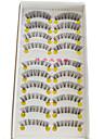 10 pairs Cilios Pestana Others Olhos Cruzado / Comprimento Natural / A extremidade e mais longaEstendido / Pestanas Levantadas / Natural