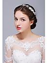 Femei Argint veritabil Aliaj Imitație de Perle Diadema-Nuntă Ocazie specială Informal Cordeluțe 1 Bucată