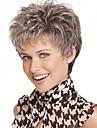 nytt mode lady populär hög temperatur tråd kort grått hår peruk kan vara mycket het kan vara färgat