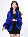 Fur Coats / Hoods & Ponchos / Wedding  Wraps Capelets Long Sleeve Faux Fur / Imitation Cashmere Black / Ivory / White / Royal Blue / Red
