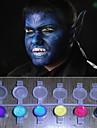 le visage peint perle magique lumiere qui brille des couleurs pigment Halloween visage de peinture sur corps deco (8 couleurs, un ensemble d\'outils)