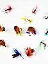 12 st Flugor / Fiskbete Flugor Blandade färger 1 g/<1/18 Uns mm tum,Metall Flugfiske