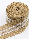 Culoare solidă Jute Panglici de nunta-1 Piece / Set Panglică Țesută Arc Cadou