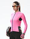 SANTIC® Maillot de Cyclisme Femme Manches longues Velo Respirable / Sechage rapide / Resistant aux ultraviolets Maillot / Hauts/Tops
