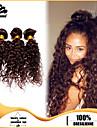 3st brasilianska hårknippena väver mörkbrunt djupa curl hårträns 100% obearbetat brasiliansk weft
