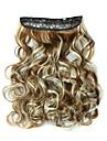 24 tums 120g långt lockigt 5 klipp i hårförlängningar värmetåliga syntetiska fibrer