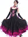 Ballroom Dance Outfits Women\'s Performance Spandex / Crepe /Rhinestones / Ruffles 4 Pcs Dress&Collar&2*Hand act