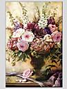Peint a la main A fleurs/BotaniqueStyle europeen / Modern Un Panneau Toile Peinture a l\'huile Hang-peint For Decoration d\'interieur