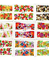 4 PCS 50 Water Transfer Printing Flowers Nail Style Random Delivery