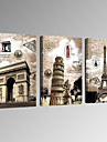 VISUAL STAR®Paris Tower Canvas Printing 3 Panel City Scenery Canvas Wall Art Ready to Hang