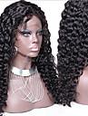 """non traite 10 """"-24"""" cheveux bresiliens couleur naturelle vierge frises 130% dentelle de densite devant boucle perruque lache"""