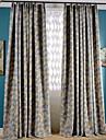 Deux Panneaux Le traitement de fenetre Neoclassique Mediterraneen Europeen Rustique Moderne Chambre a coucher Polyester MaterielRideaux