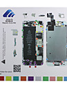 iphone 5s magnetisk skruv diagram matta reparation guide pad verktyg