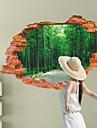 Botanique / Bande dessinee / Romance / Mode / Paysage / Forme / Fantaisie / 3D Stickers muraux Stickers muraux 3D , PVC90cm x 60cm( 35in