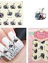 1PCS - Autocollants 3D pour ongles / Bijoux pour ongles - Doigt - en Fleur / Adorable - 62mm*52mm