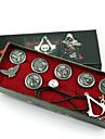Smycken Inspirerad av Assassin\'s Creed Connor Animé/ Videospel Cosplay Accessoarer Halsband / Bricka / Brosch Silver Legering Man