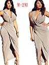 Robes ( Coton melange / Lycra ) Sexy / Soiree Col V a Sans manche pour Femme