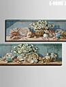 Vida Imovel / Botanico Impressao em tela Dois Paineis Pronto para pendurar , Vertical