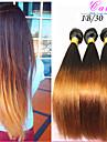 """10 """"-26"""" produits capillaires cara malaisiens cheveux vierge droites extensions de cheveux ombre de deux de tonalite 1b / 30 droite 3"""