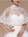 Wedding  Wraps Capelets Sleeveless Lace White Wedding / Party/Evening / Office & Career / Casual High Neck Lace Clasp