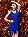 Latin Dance Dresses Women\'s Performance Cotton / Nylon / Spandex / Polyester Tassel(s) 2 Pieces 3 Colors