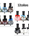 12PCS 12ML Tribal Color Green Nail Polish Bow Series1#-12#12 Colors  Mixed