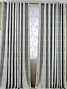 Două Panouri Tratamentul fereastră Mediteranean European Țara Modern Neoclasic , Geometic Sufragerie Amestec de In/ Poliester Material