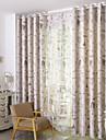 land curtains® två paneler europeiska utskrift mörkläggningsgardiner gardiner