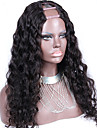 """non transformes partie mediane 10 """"-24"""" cheveux bresiliens vierges couleur naturelle desserrent la vague 130% u densite partie perruque"""
