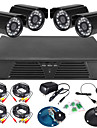 8CH Full 960H DVR and 4pcs Outdoor 600TVLine Day/Night cameras