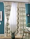Deux Panneaux Rustique / Moderne / Neoclassique Floral / Botanique Multicolore Chambre a coucher Melange Lin/Coton Panneau Rideaux rideaux