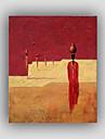 Peint a la main Abstrait / Celebre / Nature morte / Fantaisie / LoisirModern / Realisme / Style Un Panneau ToilePeinture a l\'huile