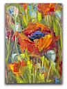iarts®abstract blomma gräs vacker botanisk målning